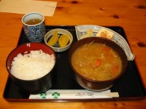 道の駅『花街道付知(つけち)』のトマト豚汁定食