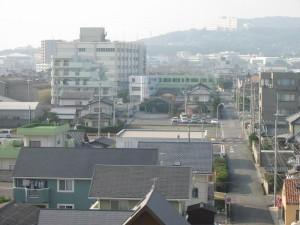 日立灯台(大みか)最上部からの風景