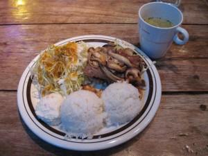 【下田市】 白浜マリーナ Aセット(生姜焼き+スープ+飲み物)