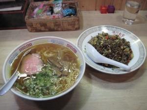 【伊豆市】 食堂ゆかわ 支那そば&黒米炒飯