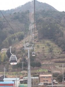 かつらぎ山ロープウェイ 上方への視界