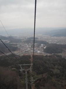 かつらぎ山ロープウェイ 下方への視界