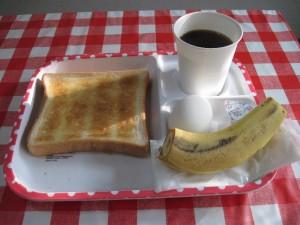 石川町の安宿の朝食