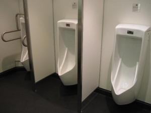 フェリーの洗練された男性用トイレ