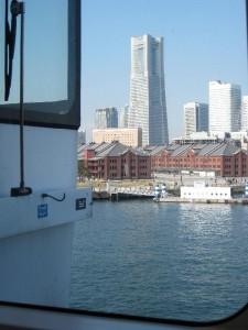 船から見える横浜