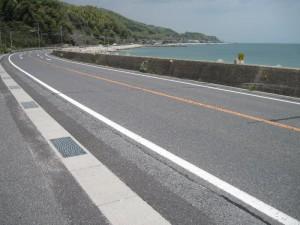 国道188号 海岸線をトレース