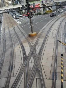 路面電車と道路