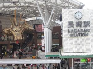 長崎駅前のドラゴンボール的な竜