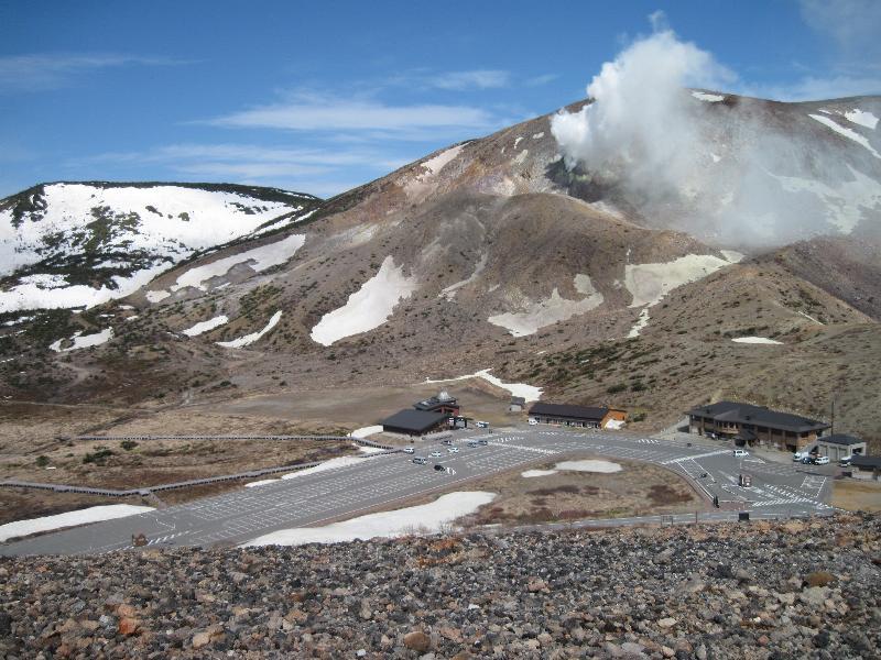 「一切経山」プチ噴火中