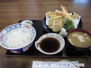 【土浦市】 ほたて 天ぷら定食