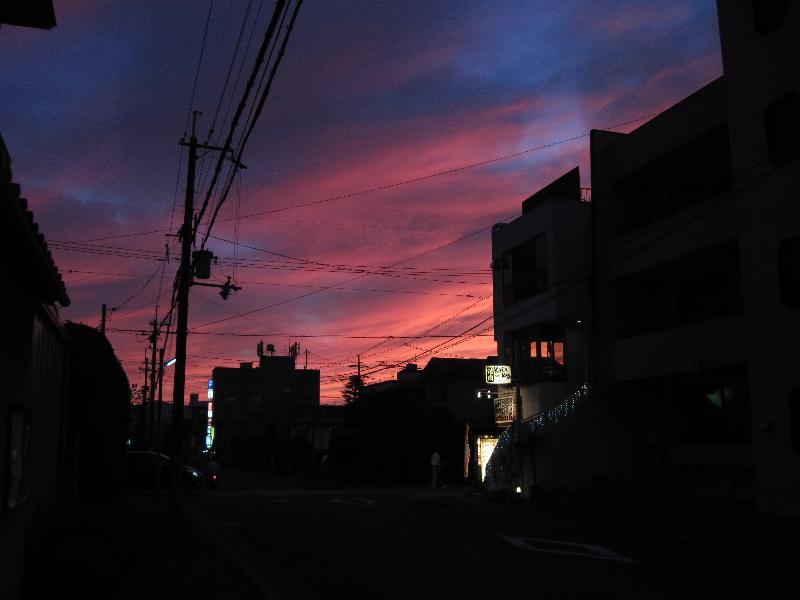 A1100IS 手持ちで撮った京都での夕焼け