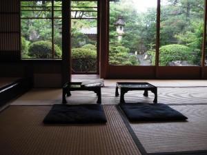 【京都市】 よーじやカフェ銀閣寺店 日本庭園の見える座敷
