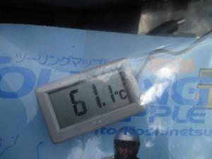 タンクバッグの表面温度って?
