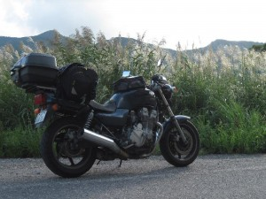 国道252号の福島・新潟県境には秋風が