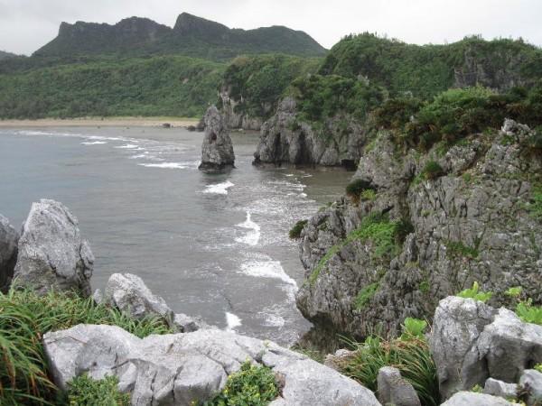 辺戸岬 「東側の景色」