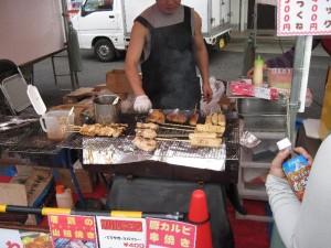 『日立市産業祭』 「ジャンボつくね屋台」