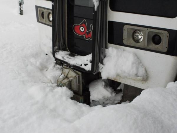 「雪に埋もれた719系」 (G1 NFD24mm)