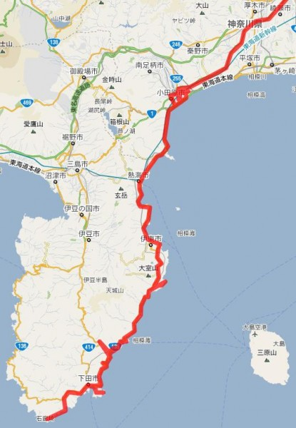 2011_01_22ルート(厚木~石廊崎)