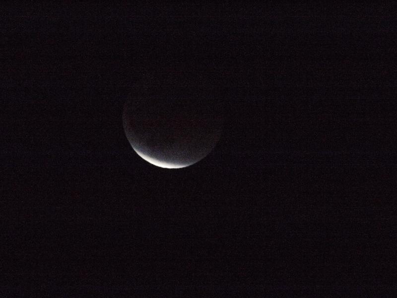 「月食9」 (G1 TAMRON SP 500mm F/8 ISO3200 1/800秒)
