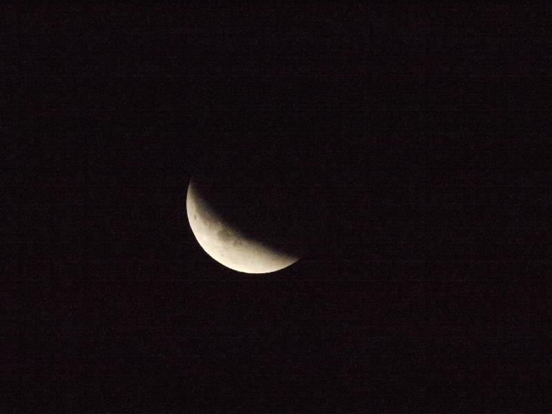 「月食11」 (G1 TAMRON SP 500mm F/8 ISO3200 1/800秒)