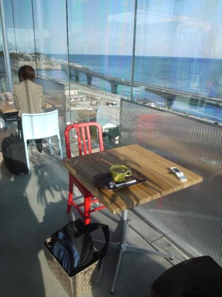 【茨城県日立市】 SEA・BIRDS・CAFE 店内からの眺め