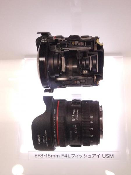 「CP+2012 Canon EF8-15mm F4L フィッシュアイ カットモデル」