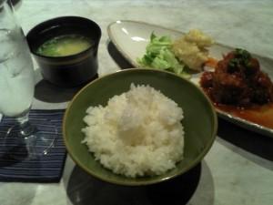 「ゲストハウス梅鉢 肉団子定食」