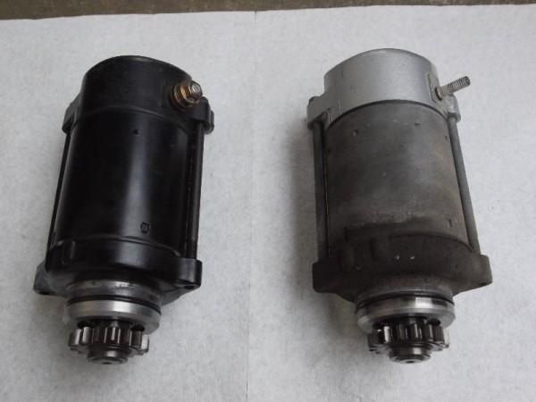 「CB750(RC42) 中古のまともなセルモーター(左)と19万キロノーメンテのセルモーター」