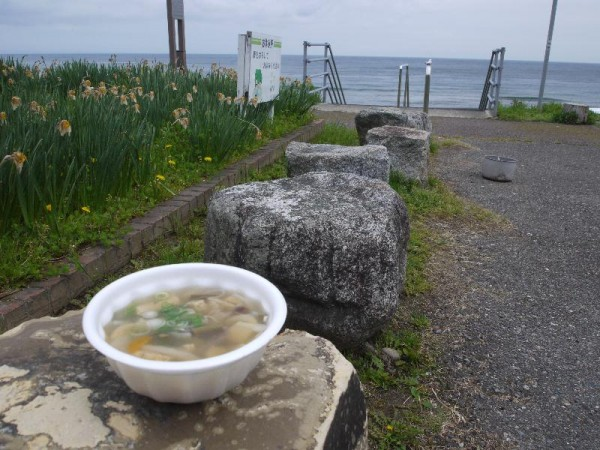 【石川県七尾市】 道の駅 いおり 「山菜汁&日本海」