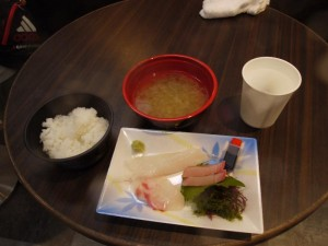【石川県輪島市】 朝市さかば 「プチ刺身&ご飯セット」