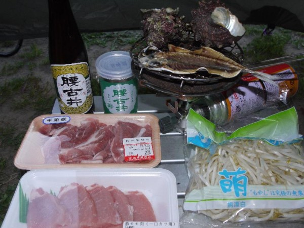 「勝浦キャンプの食材」
