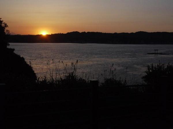 勝浦の夕日