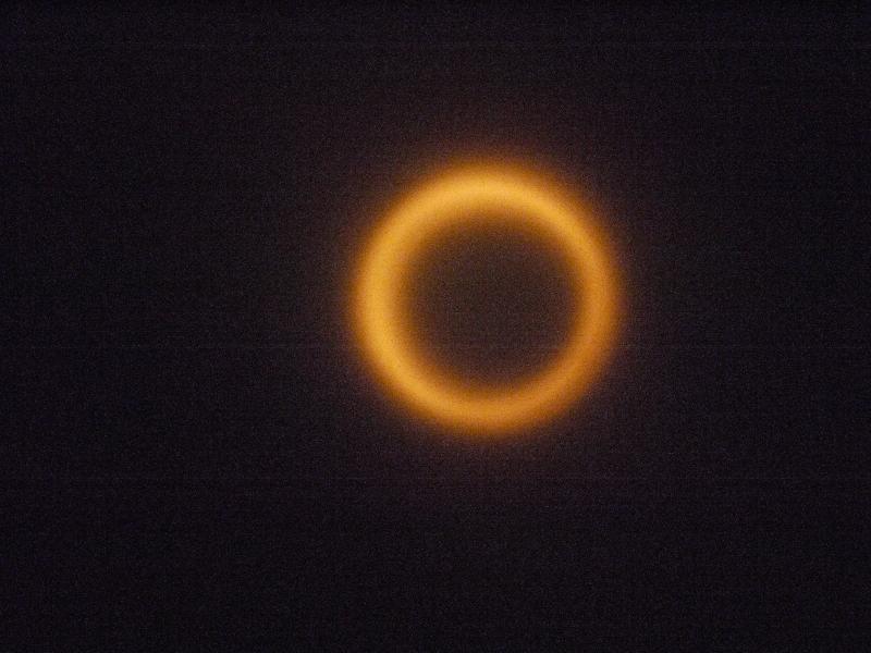 小木津駅で撮ってみた金環日食