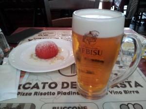 【恵比寿ガーデンプレイス】 メルカート・デラ・パスタ 「トマト&エビスビール(大)」