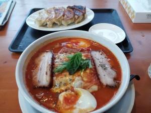 【福島県猪苗代町】 山の駅食堂 「トマトラーメン&餃子」