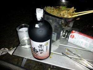 「肉もやし炒めと日本酒 赤城の恵み」