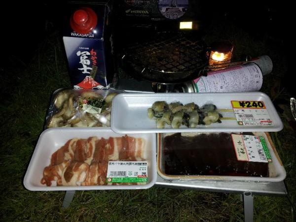 「大雨の中、シーサイド高浜での晩餐」