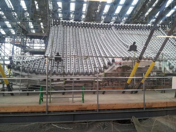 「姫路城修復工事」
