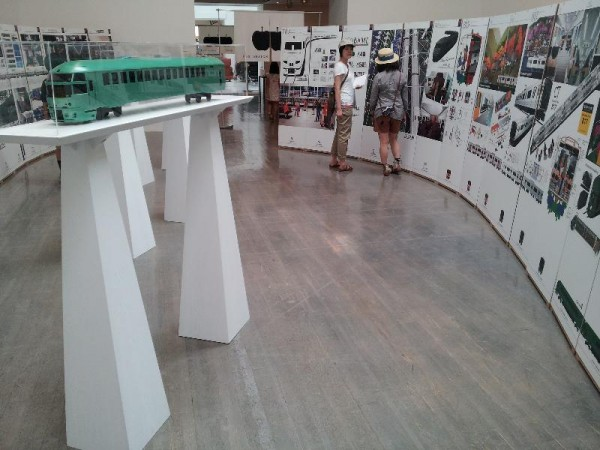 車両のデザイン展示
