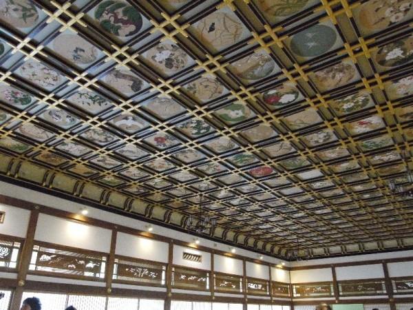 「永平寺見学 天井の絵」