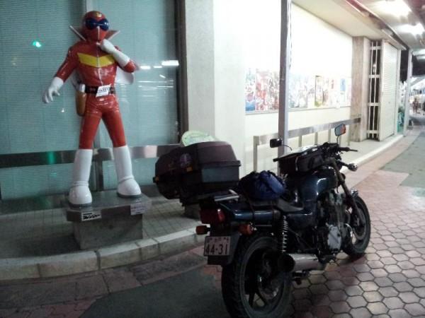 「石巻市街にある3D漫画像」