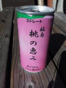 「果汁100% 桃の恵みジュース」
