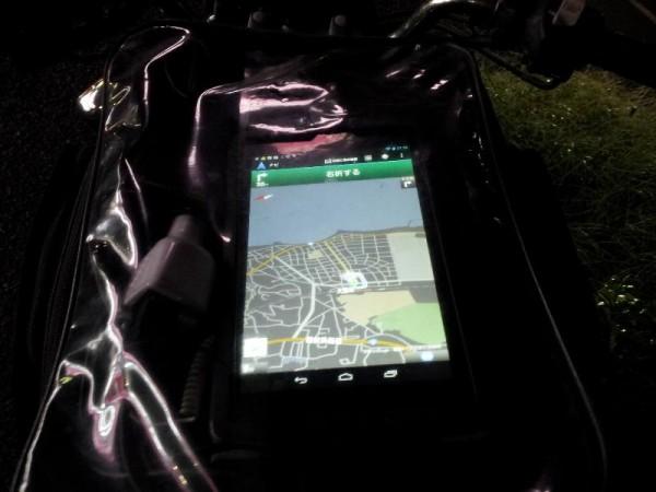 「Nexus7はバイクナビに使えるか? 日暮れ後」