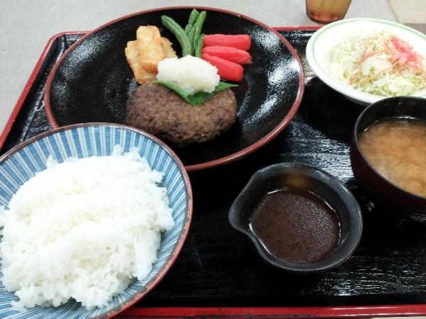 【常磐道中郷SA】 常陸牛ハンバーグ定食