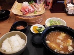 【新潟県長岡駅】 海宝丸 「お刺身定食」