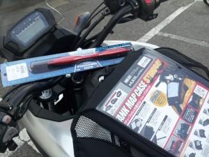 南海部品太田店にてマップケースとハンドルブレース等を買い物