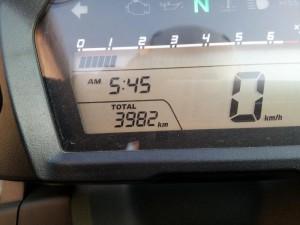 走行距離は3982キロ