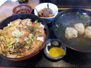 【千葉県銚子市】 海ぼうず 「金目鯛&あぶらぼうずの2色づけ丼+イワシのつみれ汁」