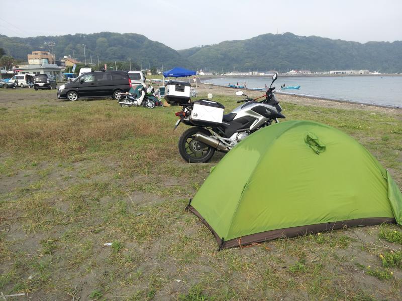 多田良キャンプ場の朝