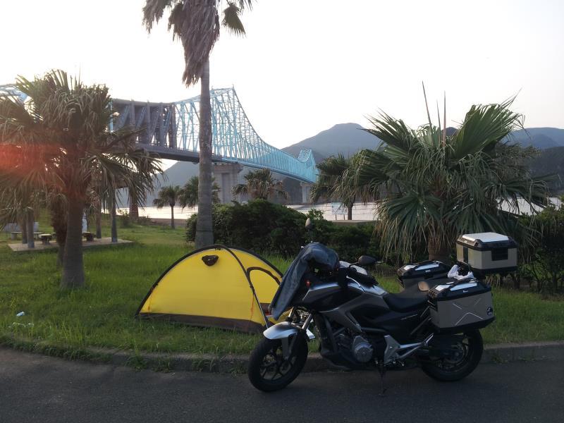 道の駅「生月大橋」の朝